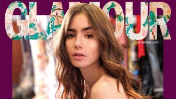 Glamour UK digital cover star Lily Collins
