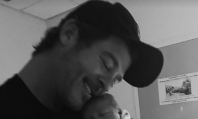 April Love Geary shares first picture of Robin Thicke and their newborn son